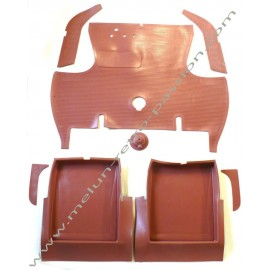 SET OF REAR AND FRONT BROWN RUBBER CAR MAT...