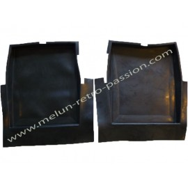 REAR BLACK RUBBER CAR MAT RIGHT AND LEFT...
