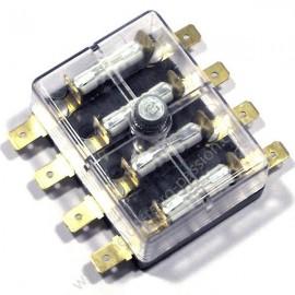 BOITE 4 FUSIBLES connecteurs plats