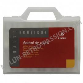 ECROUS ANTIVOL DE ROUES RENAULT 14 x 150