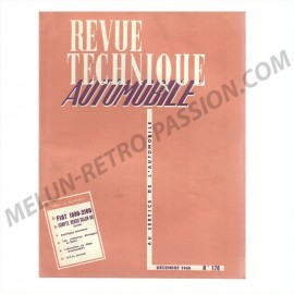 REVUE TECHNIQUE AUTOMOBILE FIAT 1800-2100