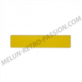 PLAQUE D'IMMATRICULATION ALU JAUNE 455 x 100