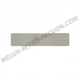 plaque d'immatriculation alu blanche 455 x 100