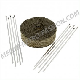 bande thermique titanium larg. 50 mm, long....