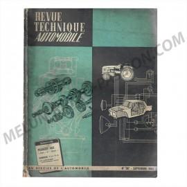 """REVUE TECHNIQUE AUTOMOBILE PEUGEOT 403 """"Sept""""..."""