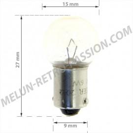 ampoule 12v 6w culot ba9s