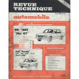 REVUE TECHNIQUE AUTOMOBILE PEUGEPOT 305 GT -...