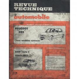 REVUE TECHNIQUE AUTOMOBILE PEUGEOT 205 et BMW...