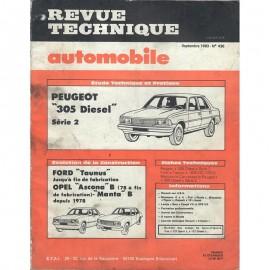 REVUE TECHNIQUE AUTOMOBILE PEUGEOT 305 - FORD...