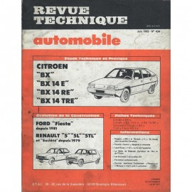 REVUE TECHNIQUE AUTOMOBILE CITROEN BX - FORD...