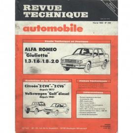 REVUE TECHNIQUE AUTOMOBILE ALFA ROMEO...