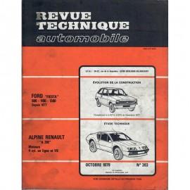 REVUE TECHNIQUE AUTOMOBILE ALPINE RENAULT -...