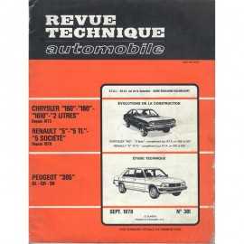 REVUE TECHNIQUE AUTOMOBILE CHRYSLER, RENAULT...