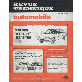 REVUE TECHNIQUE AUTOMOBILE CITROEN BX 16 -...