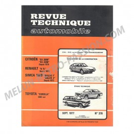 REVUE TECHNIQUE AUTOMOBILE CITROEN CX -...