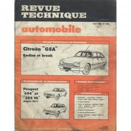 REVUE TECHNIQUE AUTOMOBILE CITROEN GSA -...