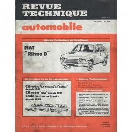 REVUE TECHNIQUE AUTOMOBILE FIAT RITMO D -...