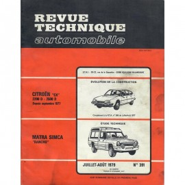 REVUE TECHNIQUE AUTOMOBILE MATRA SIMCA RANCHO...