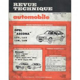 REVUE TECHNIQUE AUTOMOBILE OPEL ASCONA -...