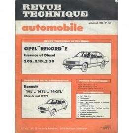 REVUE TECHNIQUE AUTOMOBILE OPEL REKORD E et...