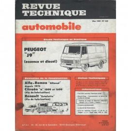 REVUE TECHNIQUE AUTOMOBILE PEUGEOT -...