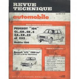 REVUE TECHNIQUE AUTOMOBILE PEUGEOT 104  et...