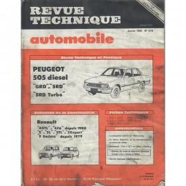 REVUE TECHNIQUE AUTOMOBILE PEUGEOT 505 -...
