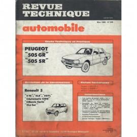 REVUE TECHNIQUE AUTOMOBILE PEUGEOT 505 et...