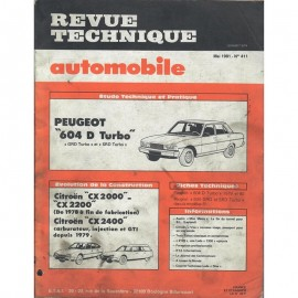 REVUE TECHNIQUE AUTOMOBILE PEUGEOT 604 D...