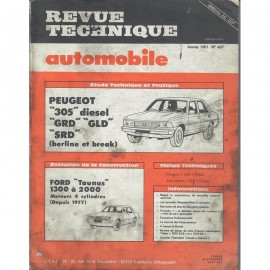 REVUE TECHNIQUE AUTOMOBILE PEUGOT 305 GRD -...