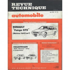 REVUE TECHNIQUE AUTOMOBILE RENAULT FUEGO GTS...