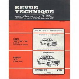 REVUE TECHNIQUE AUTOMOBILE RENAULT R14 TS et...