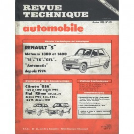 REVUE TECHNIQUE AUTOMOBILE RENAULT R5 -...