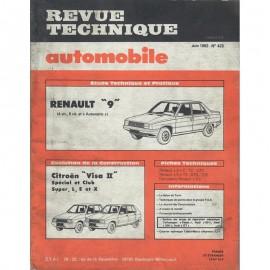 REVUE TECHNIQUE AUTOMOBILE RENAULT R9 et...