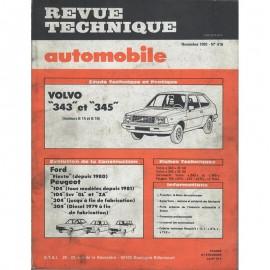 REVUE TECHNIQUE AUTOMOBILE VOLVO 343 et 345 -...