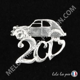 Broche Citroën 2cv, Auto et Lettrage
