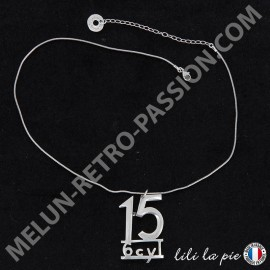 Collier Citroën Traction, Lettrage 15-6 Cyl -...