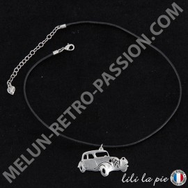 Collier Citroën Traction, Auto - Cordelette Noir