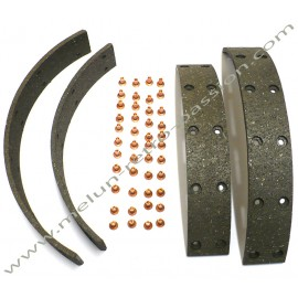 BRAKE LININGS + Rivets PEUGEOT 202, 203, 403,...