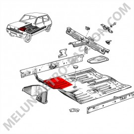 RENAULT R5 FRONT RIGHT FLOOR