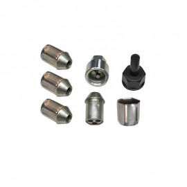 CHROME ANTI-THEFT WHEEL NUTS 10x125 TAPERED 60 °