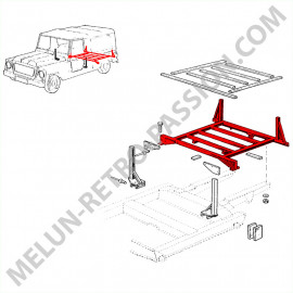 REAR METAL PLATFORM RENAULT RODEO 4
