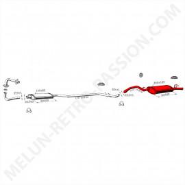 SILENCIEUX ARRIERE RENAULT R9 TURBO 2ème modèle