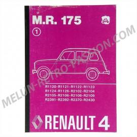 mr175 - manuel d'atelier pour renault 4